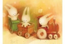Зайчики в поезде