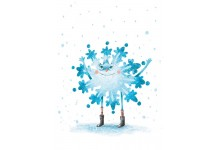 Красавица-снежинка