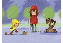 Дождливая прогулка