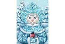 Снегурочка со снегирем
