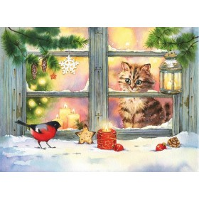 За окном снегири