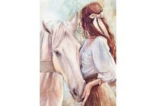 Дзяўчына і конь