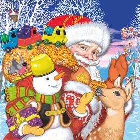 Дед Мороз спешит на праздник