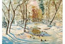 Зима в парке Горького