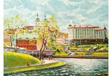 Минск, весна, Троицкая набережная
