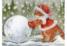 Леплю снеговика