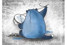 Кот Трюфель. Вышивка