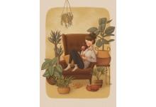 В уютном кресле за чашкой чая