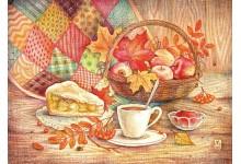 Осень лоскутное шьёт одеяло