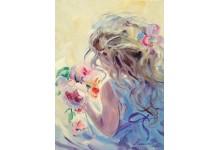 Девочка и розы