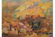 Осенний шуршащий ежик