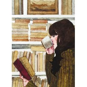 Дзяўчына з кнігамі