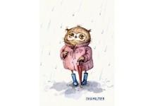 Совушка под дождем