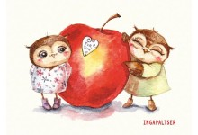 Совушки и яблочко