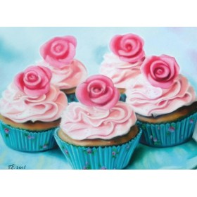 Десерт с розами