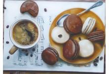 Кофе с макарунами