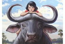 Девочка на буйволе