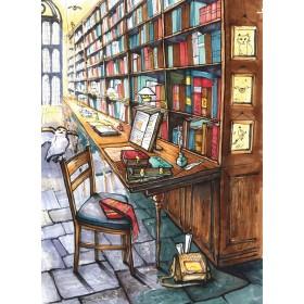 Библиотека в Хогвартсе
