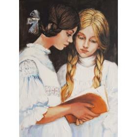 Девочки с книгой