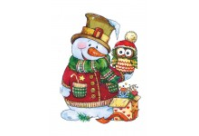 Снеговик с совеночком