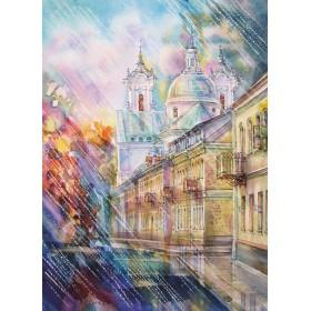 Гродно. Кафедральный собор св. Франциска Ксаверия / Дождь в городе