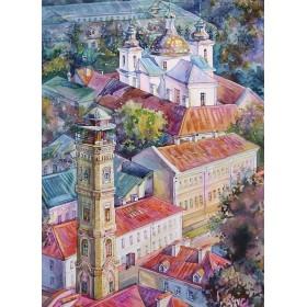 Гродно. Пожарная каланча и Свято-Рождество-Богородицкий женский монастырь