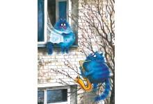 Postal Love Story. Blue Shawl