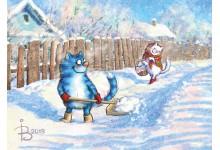 В январе, в январе много снега во дворе!