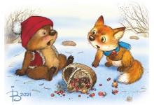 Лисенок и медвежонок